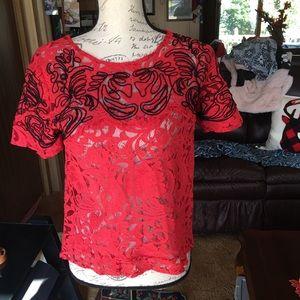 Free people beautiful lace blouse